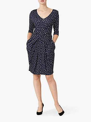 Helen McAlinden Vintage Dot Dress, Navy