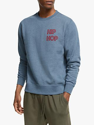 Maison Labiche Hip Hop Sweatshirt, Heather Blue Jean