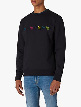 PS Paul Smith Zebra Motif Sweatshirt, Navy