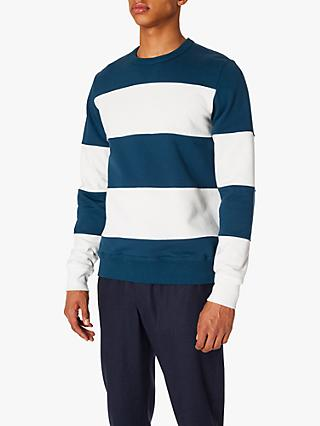 PS Paul Smith Blocked Sweatshirt, White/Teal