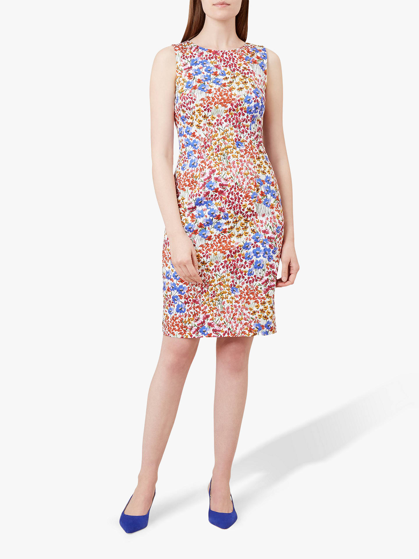 Buy Hobbs Fiona Dress, Multi, 10 Online at johnlewis.com