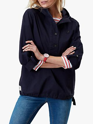 Joules Embleton Casual Pop Over Jacket, Marine Navy