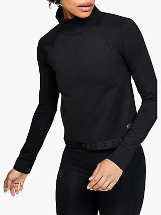 Under Armour Rush ColdGear Long Sleeve Training Top, Black