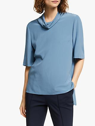 Modern Rarity Silk T-Shirt, Blue