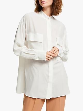Modern Rarity Silk Utility Top, White