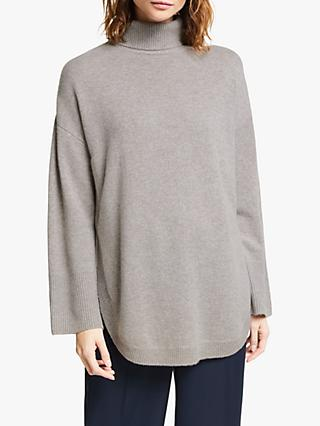 Modern Rarity Cashmere Roll Neck Jumper, Brown