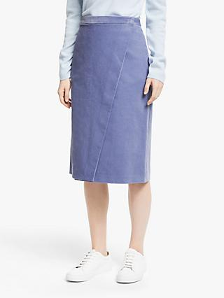 John Lewis & Partners Cord Wrap Skirt