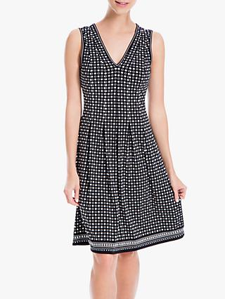 Max Studio Spot Print Flared Dress