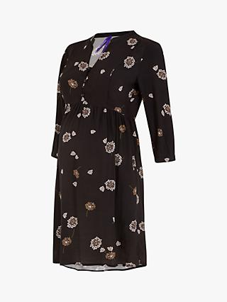 Séraphine Bella Flora Print Maternity Shift Dress, Dandelion