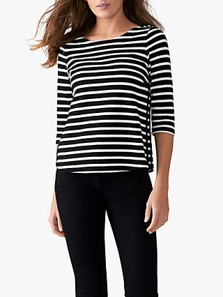 bbe20ce101cf Pure Collection Laced Stripe Top