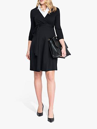 Séraphine Kendra Wrap Maternity Nursing Dress, Black/White