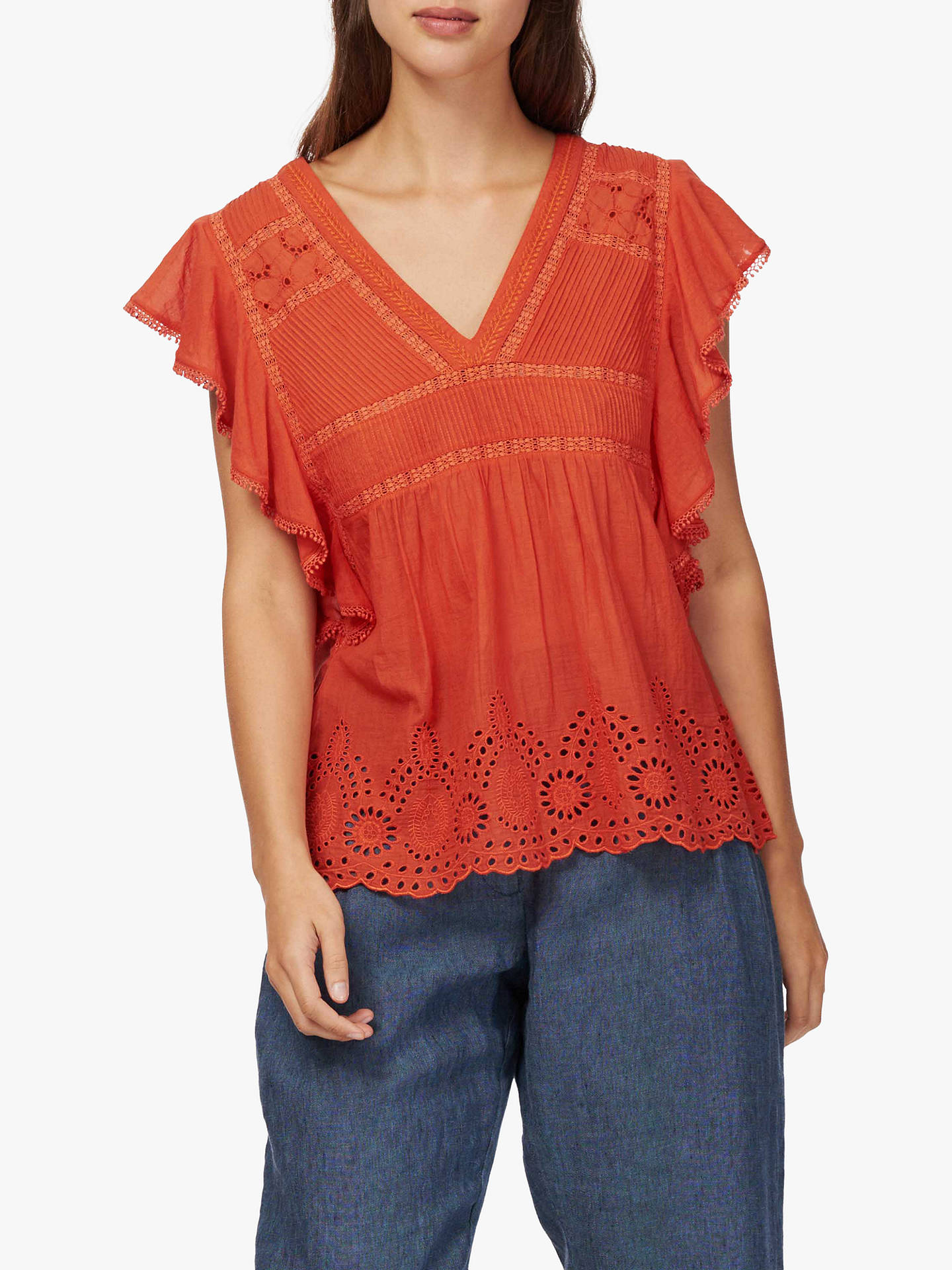 86124fbb979c7e Brora Embroidered Pintuck Shell Top at John Lewis   Partners