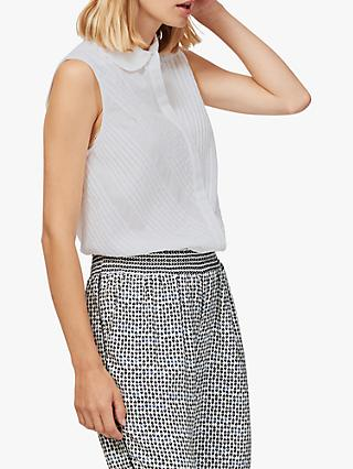 4ceb95827f9e85 Brora Pintuck Sleeveless Blouse