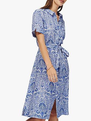 b9a559948f0 Brora Botanical Print Linen Shirt Dress