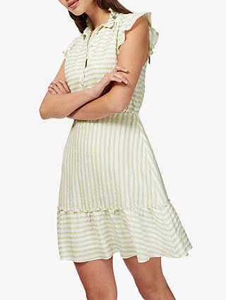 Brora Stripe Prarise Dress, Mimosa/Cloud