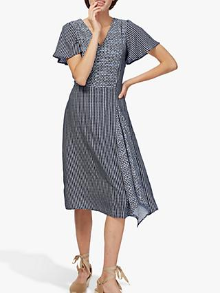 Brora Graphic Asymmetric Dress, Ink