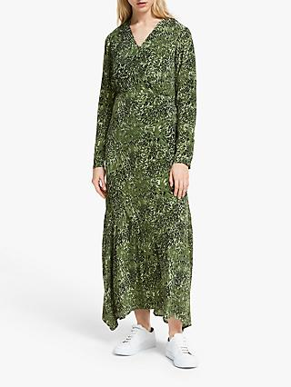 Y.A.S Hannen Animal Print Dress, Chive
