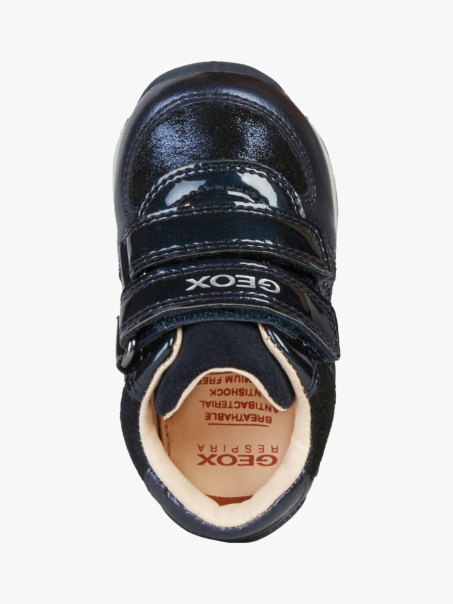 best website 8ecf0 21a6f Geox Children's Each Girl Sparkle Riptape Shoes, Navy