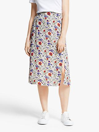 Y.A.S Palma Midi Skirt, Natural Multi