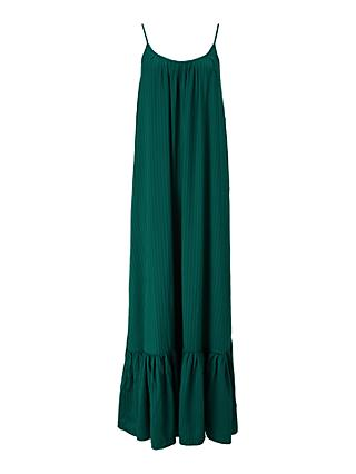 Y.A.S Leora Strap Maxi Dress, Botanical Green