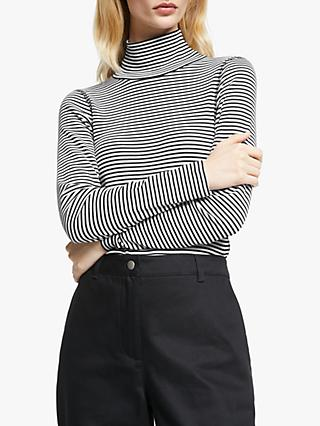 John Lewis & Partners Stripe Turtleneck Top