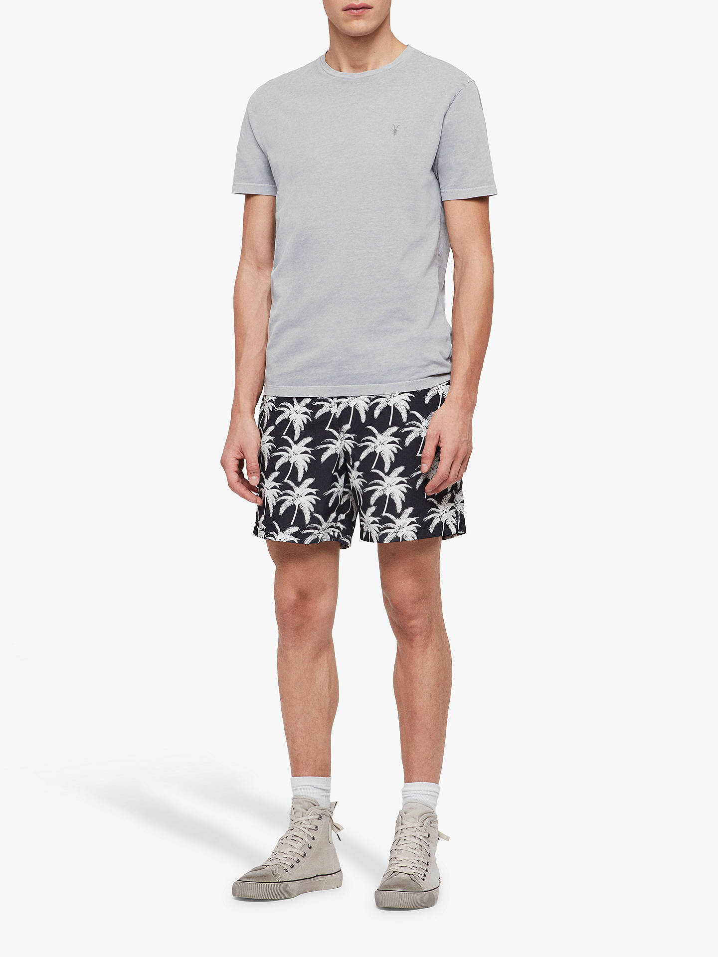 Strange Allsaints Santa Cruz Palm Print Swim Shorts Jet Black White Gmtry Best Dining Table And Chair Ideas Images Gmtryco