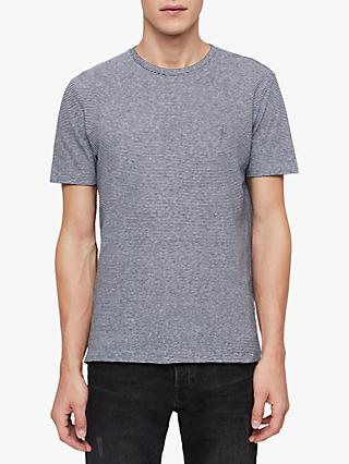 AllSaints Tonic Lupa Stripe Short Sleeve T-Shirt, White/Blue