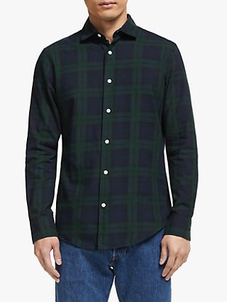 John Lewis & Partners Black Watch Tartan Regular Fit Shirt, Green