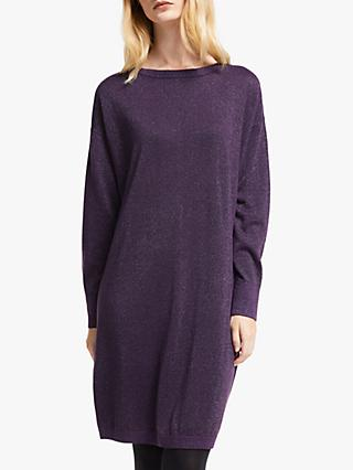 John Lewis & Partners Glitter Detail Knitted Dress