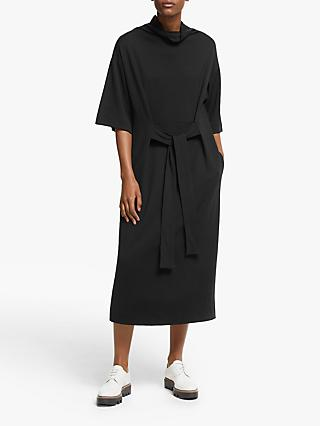 Kin Tie Waist Jersey Dress, Black