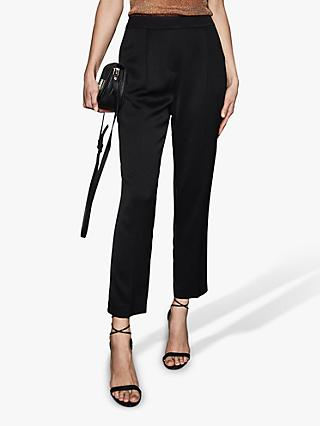 Reiss Reese Tapered Trousers, Black
