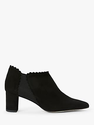 John Lewis & Partners Wiley Suede Scalloped Shoe Boots
