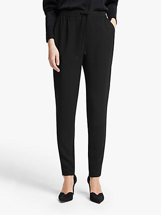 John Lewis & Partners Athleisure Tuxedo Trousers, Black