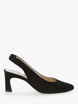 John Lewis & Partners Aubree Suede Slingback Court Shoes, Black