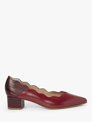 John Lewis & Partners Anita Suede Scallop Court Shoes
