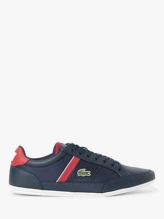 Lacoste Chaymon Colour Block Trainers, Navy/Red