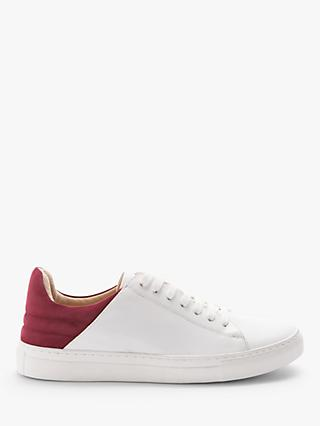 John Lewis & Partners Eden Leather Contrast Heel Trainers
