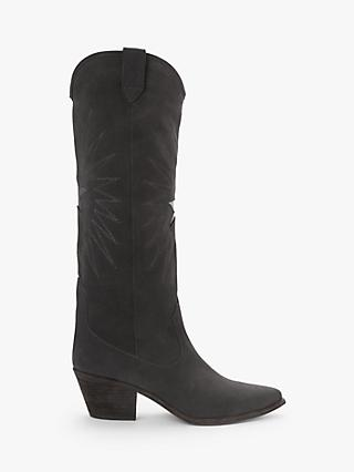 AND/OR Uri Suede Calf Boots, Grey