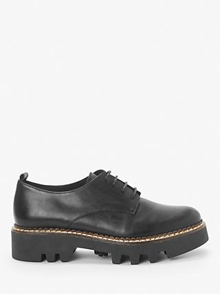 Kin Fayth Leather Chunky Cleated Sole Brogues, Black