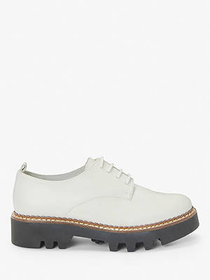 Buy Kin Fayth Leather Lace Up Chunky Brogues, White, 4 Online at johnlewis.com
