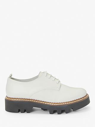 Kin Fayth Leather Lace Up Chunky Brogues, White