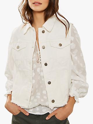8a165f84433 Mint Velvet Sleeveless Denim Jacket