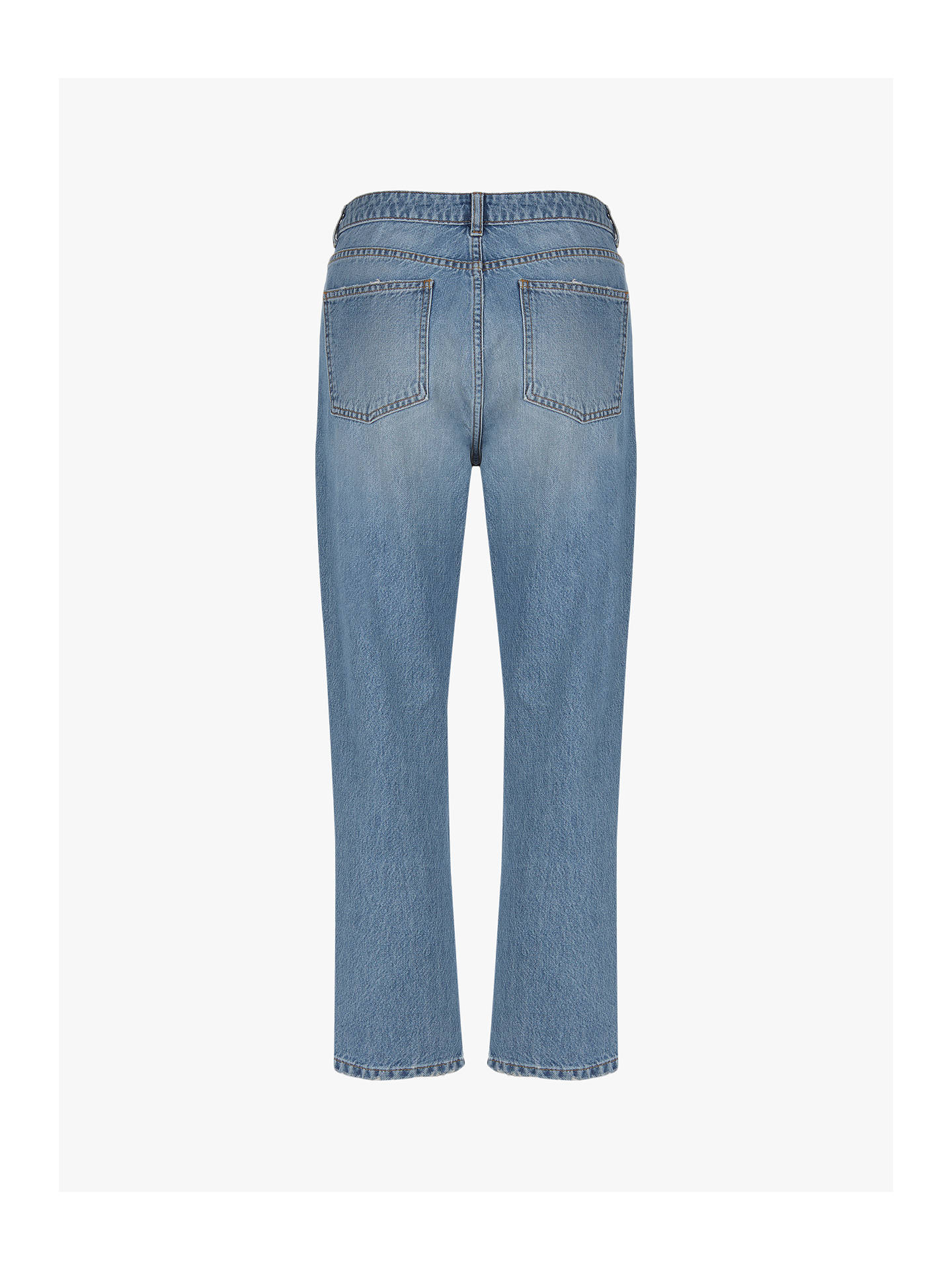 Buy Mint Velvet Meribel Zip Front Jeans, Blue, 6R Online at johnlewis.com