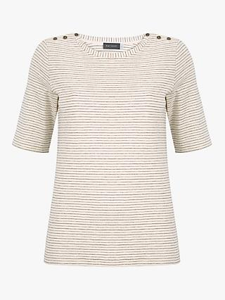940c6eddf935b2 Mint Velvet Thin Striped Short Sleeve T-Shirt