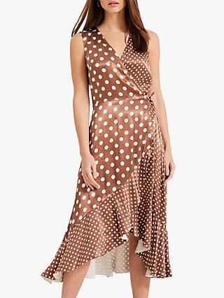 70d354da342 Phase Eight Bea Spot Wrap Midi Dress