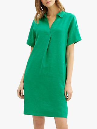 Jaeger Linen Collar Dress, Green