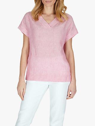 d3a864c715517 Jaeger Fine Stripe Linen T-Shirt