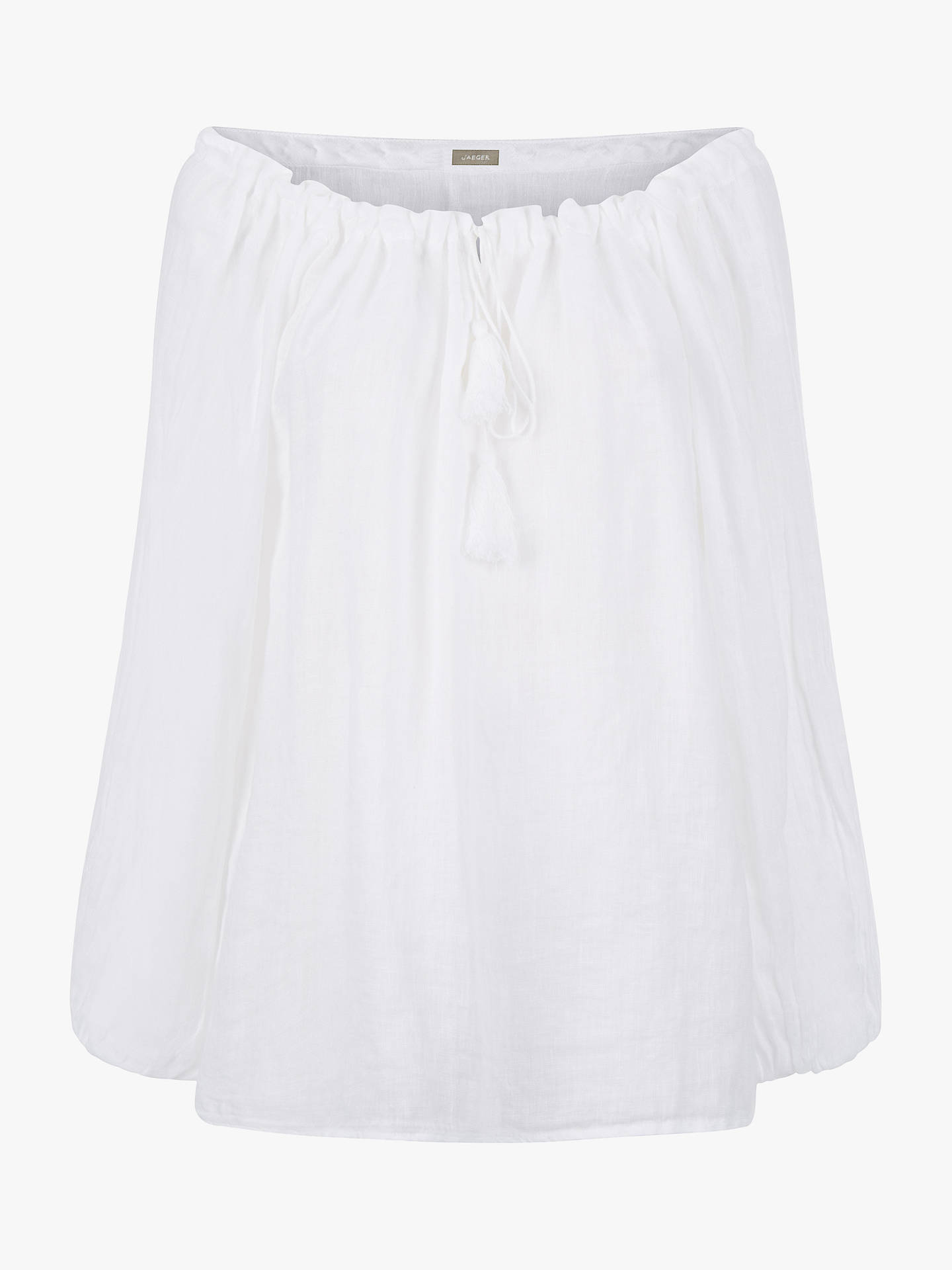 15e9f3c5 ... Buy Jaeger Gauze Linen Tunic, White, 6 Online at johnlewis.com ...