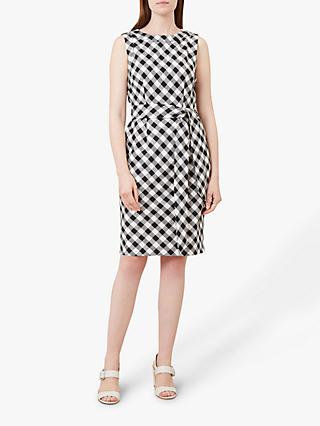 Hobbs Amalfi Linen Dress, White/Black