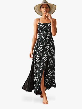 745448bd00250 Reiss Fenna Cross Back Abstract Leaf Dress